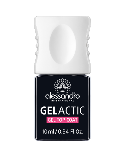 alessandro Gelactic Gel Top Coat – geel-pealislakk, 10ml